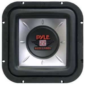 Pyle PLSQ10D 10 Red Label Square Subwoofer 1200W