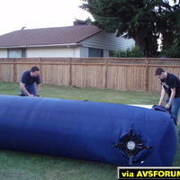 Inflatable Outdoor screen