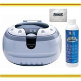 Sonic Wave Professional Ultrasonic Cleaner - Cleans Jewelry, Optics, Eyeglass, CD's, DVD's and Other Delicate Items + Blitz Jewelry &amp; Gem Cleaner (Concentrate 8oz.) + 100% Cotton Flannel All-in-one Jewelry Cloth